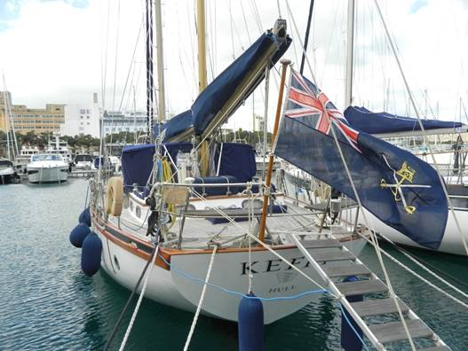 Alan Pape cutter rigged classic wooden ketch